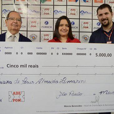 ADEPOM entrega prêmios mensais de 5 mil reais a associados