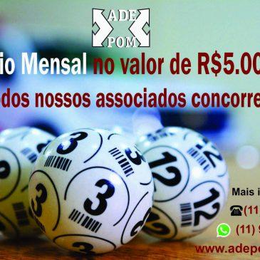 Vejam os nomes dos Ganhadores do Sorteio Mensal no valor de R$5.000,00