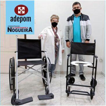 Cadeiras de rodas e banho são doadas pela ADEPOM