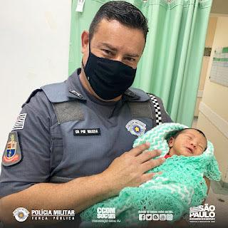 Equipe do 10º BPM/M salva bebê em Santo André